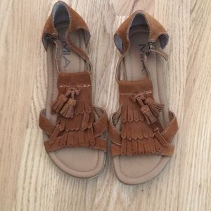 Mia Suede Moccasin Sandals Worn Once!